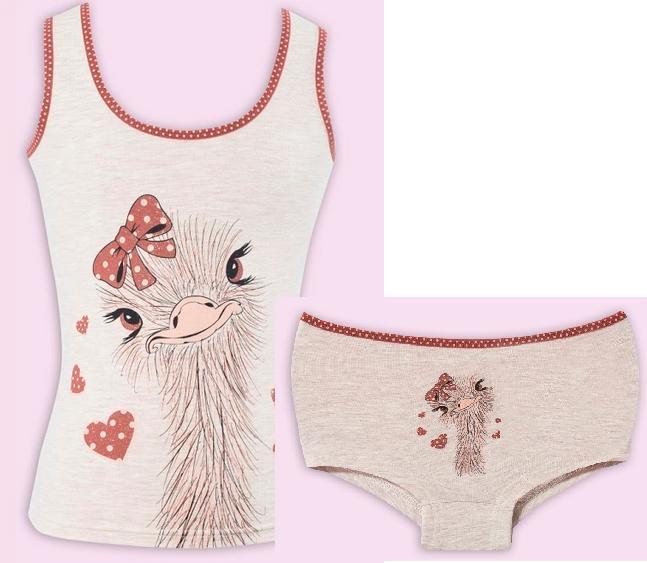 Комплект майка и трусы для девочки, Flavien, арт.8009
