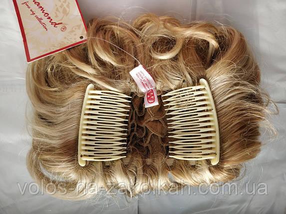 Заколка резинка на гребешках гулька гребешок приплет преплет бублик резинка с волос гребешке, фото 2