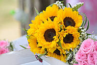Картина Цветы подсолнухи на натуральном дереве Артприз 40х60см (КДПЦ4060/16), фото 1