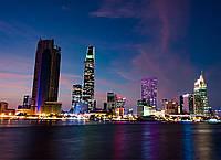Картина Ночной город 3 на натуральном дереве Артприз 40х50см (КДНГ3/4050/27), фото 1