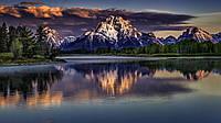 Картина Горный пейзаж на натуральном холсте Артприз 40х60см (ПГ40607), фото 1