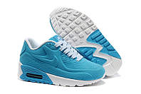 Кроссовки детские Nike Air Max Kids 90 (в стиле найк аир макс кидс) голубые