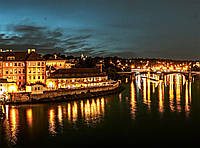 Картина Ночной город 4 на натуральном холсте Артприз 30х60см (НГ4/3060/28), фото 1