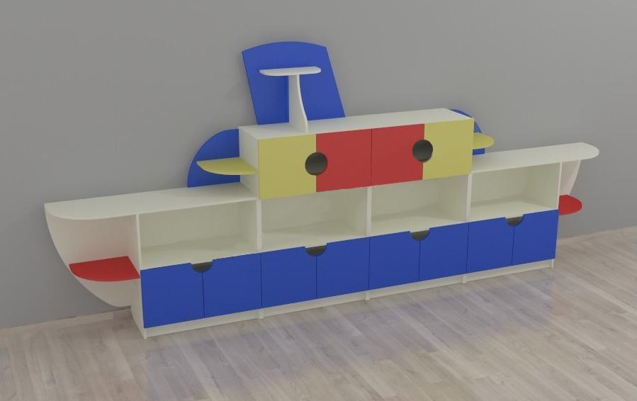 Детская игровая стенка Пароход. W401