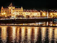 Картина Ночной город 5 на натуральном холсте Артприз 30х40см (НГ5/3040/29), фото 1