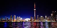 Картина Ночной город 6 на натуральном холсте Артприз 20х40см (НГ6/2040/30), фото 1