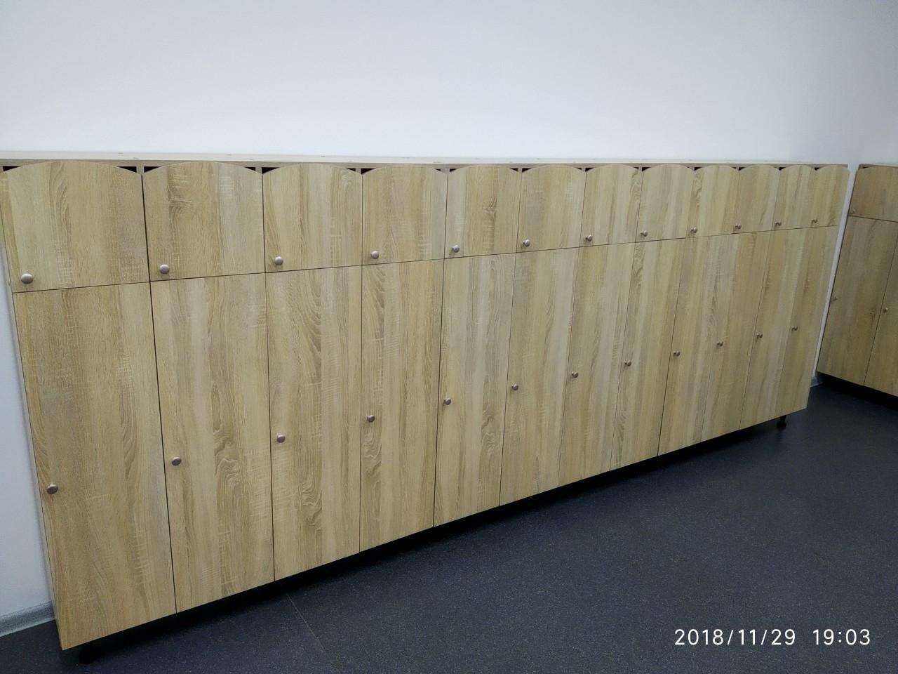 Шкаф детский для раздевалки на 5 секций. W25
