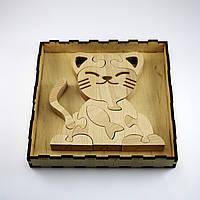 Развивающая деревянная игрушка Кошечка пазл 10 элементов Артприз (ДИК2), фото 1