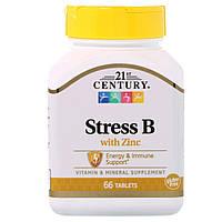 В-Комплекс от Стресса + Цинк, 21st Century, 66 таблеток