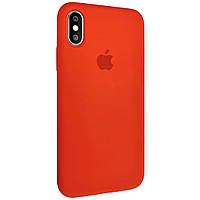 Силиконовый чехол Silicone case full cover для Apple iPhone XS   Red   DK