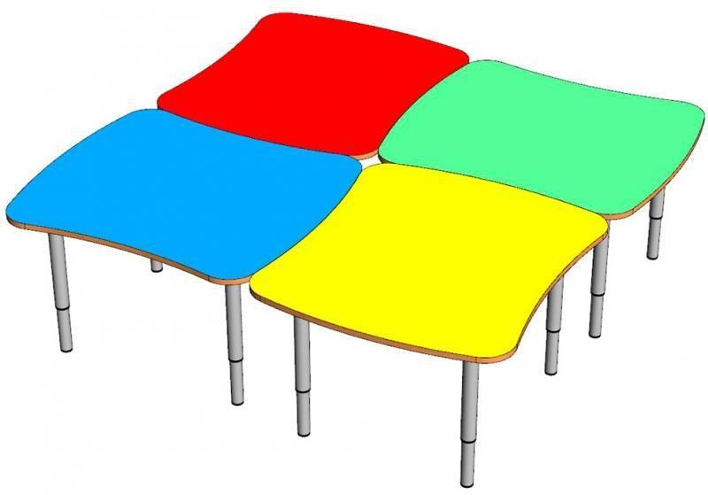 Комплект детских игровых столов. W2