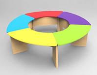 Комплект детских игровых столов Улыбка на опорах из ДСП. W12, фото 1