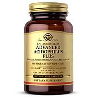 Пробиотики, Advanced Acidophilus Plus, Solgar, 60 вегетарианских капсул