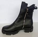 Ботинки женские зимние кожаные от производителя модель ДС743-2, фото 2