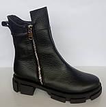 Ботинки женские зимние кожаные от производителя модель ДС743-2, фото 4
