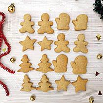 Домашнее имбирное печенье новогодний набор 16 штук в упаковке
