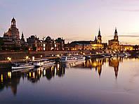 Картина Набережная Дрездена на натуральном холсте Артприз 40х80см (З7/4080/117), фото 1