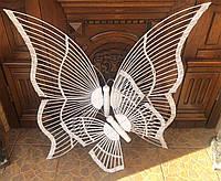 Бабочки плетеные из лозы белая, фото 1