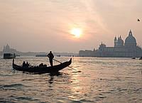 Картина Италия Венеция закат на натуральном холсте Артприз 20х40см (В18/2040/49), фото 1