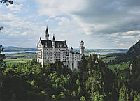 Картина Замок Нойшванштайн на натуральном дереве Артприз 50х70см (КДЗ8/5070/118), фото 1