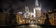 Картина Ночная Прага на натуральном дереве Артприз 50х70см (КДЗ12/5070/122), фото 1