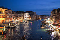 Картина Италия Венеция ночь на натуральном холсте Артприз 30х40см (В19/3040/50), фото 1