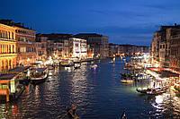 Картина Италия Венеция ночь на натуральном холсте Артприз 50х40см (В19/4050/50), фото 1
