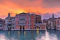 Картина Италия Венеция вечер на натуральном холсте Артприз 20х40см (В20/2040/51), фото 1