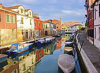 Картина Типичная Венеция  на натуральном холсте Артприз 20х40см (В4/2040/35)