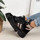 Зимние женские черные ботинки, экокожа, фото 9