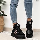 Зимние женские черные ботинки, экокожа, фото 4