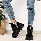 Зимние женские черные ботинки, экокожа, фото 5