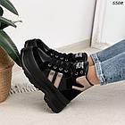 Зимние женские черные ботинки, экокожа, фото 6