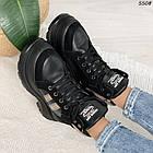 Зимние женские черные ботинки, экокожа, фото 7