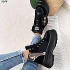Зимние женские черные ботинки, экокожа, фото 10