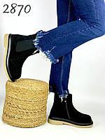 Женские ботинки зимние натуральная замша утеплитель шерсть 36,37 размер