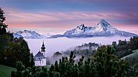 Картина Лес в горах на натуральном холсте Артприз 30х40см (ГР6/3040/57), фото 1