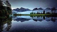 Картина Отражение тумана в горах на натуральном холсте Артприз 30х50см (ГР12/3050/63)