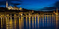 Картина Набережная Будапешта на натуральном холсте Артприз 40х70см (З18/4070/127), фото 1