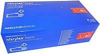 Нитриловые перчатки,медицинские nitrylex basic L