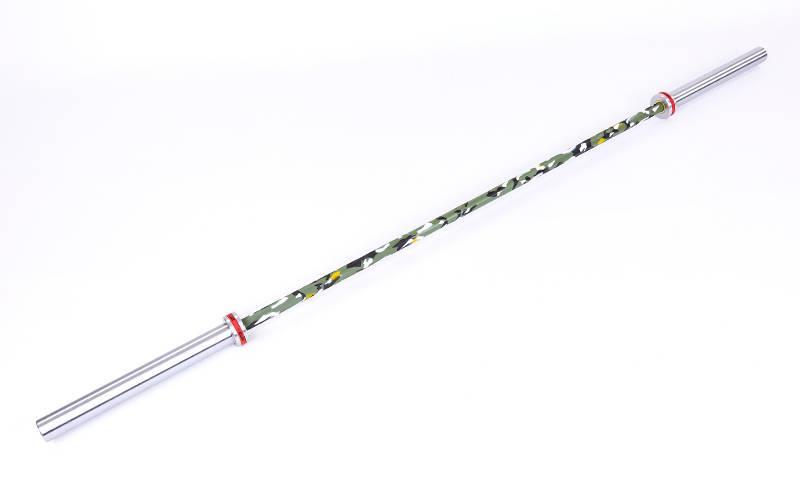 Гриф олимпийский для тяжелой атлетики и кроссфита 220 см, 680 кг, 6 подшипников, 28 мм (CrossFit) TA-7234