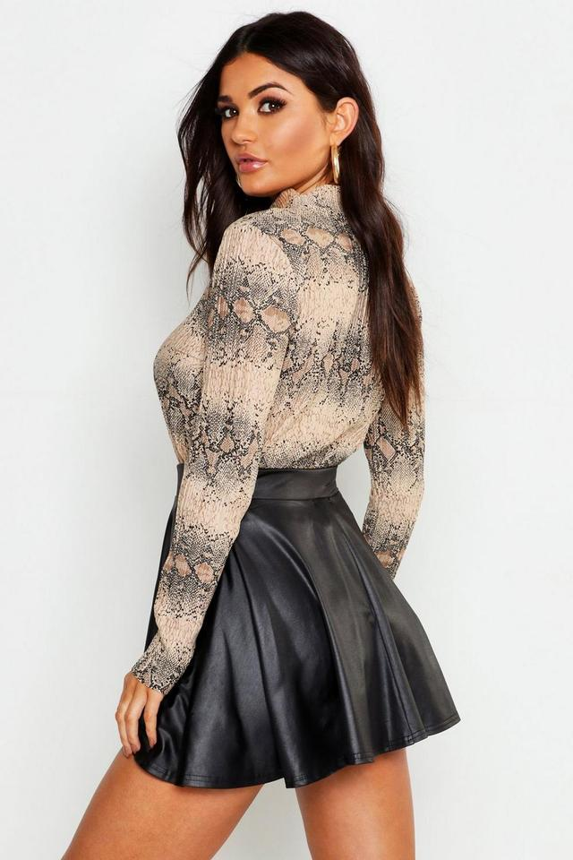 юбки женские экокожа