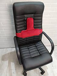 Упор поясничный под спину EKKOSEAT, ортопедический, секторальный на кресло. Ярко красный