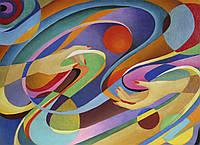 Картина Абстракция 2 на натуральном холсте Артприз 30х60см (А2/3060/103), фото 1