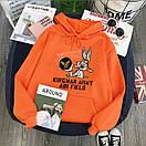 Модные толстовки для девушек худи с капюшоном теплая Bugs Bunny, фото 2