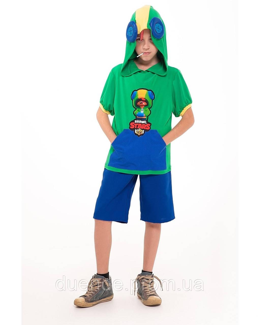 Новогодний Карнавальный костюм ЛЕОНА АКУЛЫ для мальчик, рост 122-128 / BL - ДС226