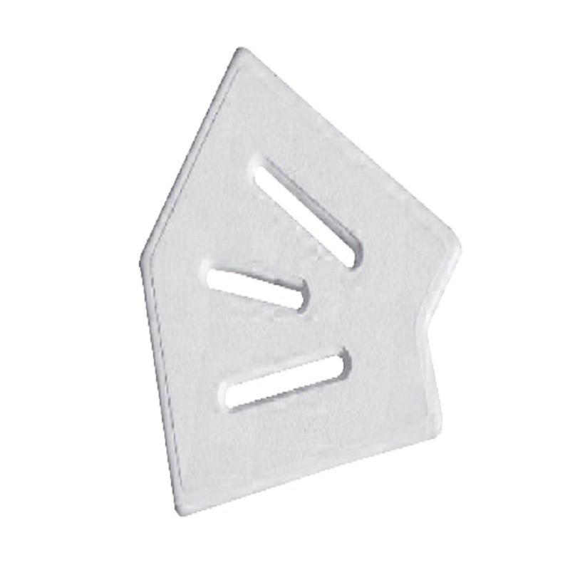 Угловой элемент AquaViva Classic и Grift для переливной решетки 45° 245/25 мм белый)