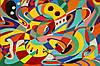 Картина Абстракция 1 на натуральном холсте Артприз 20х40см (А1/2040/102)