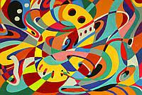 Картина Абстракция 1 на натуральном холсте Артприз 50х80см (А1/5080/102), фото 1