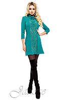 Платье - туника Манго бирюзовое 42-50 размеры Jadone